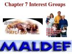 Chapter 7 Interest Groups