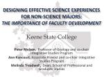 Keene State College Peter Nielsen , Professor of Geology and co-chair Integrative Studies Program