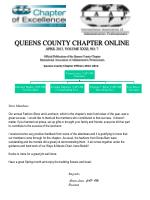 Queens County Chapter Officers 2012-2014