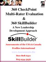 360 CheckPoint Multi-Rater Evaluation & 360 SkillBuilder