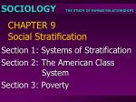 CHAPTER 9 Social Stratification
