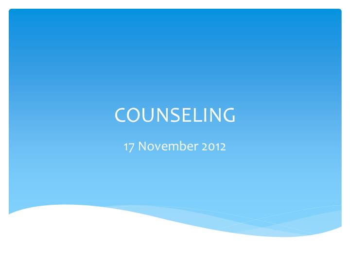 counseling n.