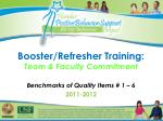Booster/Refresher Training: Team & Faculty Commitment