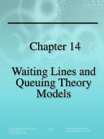 Chapter 14 Waiting Lines and Queuing Theory Models