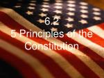 6.2 5 Principles of the Constitution