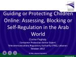 Guiding or Protecting Children Online: Assessing, Blocking or Self-Regulation in the Arab World