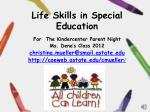 Life Skills in Special Education