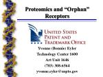 "Proteomics and ""Orphan"" Receptors"