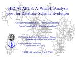 HECATAEUS: A What-If Analysis Tool for Database Schema Evolution