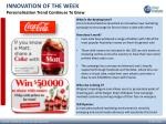 INNOVATION OF THE WEEK Personalisation Trend Continues To Grow