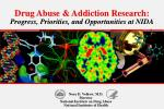 Drug Abuse & Addiction Research: Progress, Priorities, and Opportunities at NIDA