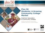 Plus 50  Students: A Growing Community College Market