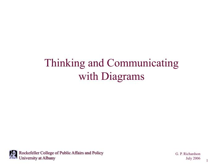 thinking and communicating with diagrams n