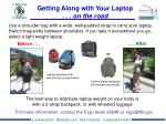 The best way to distribute laptop weight on your body is