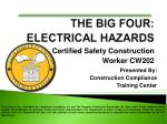 Certified Safety Construction Worker CW202