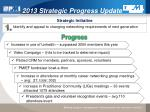 2013 Strategic Progress Update