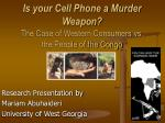 Is your Cell Phone a Murder Weapon? The Case of Western Consumers vs. the People of the Congo