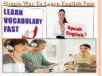 Simple Way To Learn English Fast