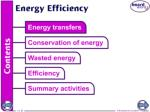 What is a useful energy transfer?