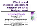 Effective and inclusive  assessment design in the Art & Design context
