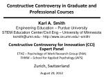 Constructive Controversy in Graduate and Professional Courses