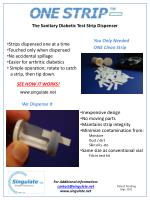 The Sanitary Diabetic Test Strip Dispenser