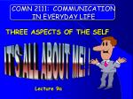 COMN 2111: COMMUNICATION IN EVERYDAY LIFE