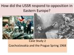 How did the USSR respond to opposition in Eastern Europe?