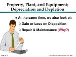 Property, Plant, and Equipment; Depreciation and Depletion