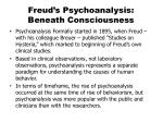 Freud's Psychoanalysis: Beneath Consciousness