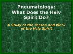 Pneumatology: What Does the Holy Spirit Do?