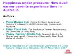 Happiness under pressure: How dual-earner parents experience time in Australia