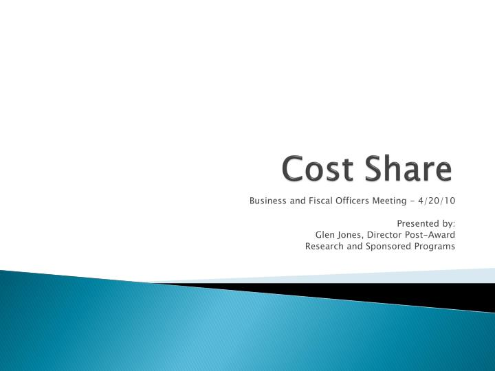 cost share n.