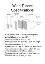 Wind Tunnel Specifications