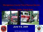 Montgomery County Fire & Rescue Service Collision Safety Stand Down