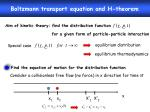 Boltzmann transport equation and H-theorem