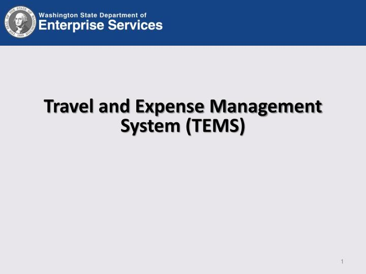 travel and expense management system tems n.