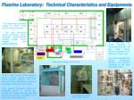 Fluorine Laboratory: Technical Characteristics and Equipments