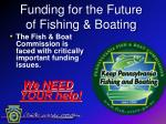 Funding for the Future of Fishing & Boating