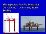 Mat-Supported Jack-Up Foundation On Soft Clay – Overturning Storm Stability