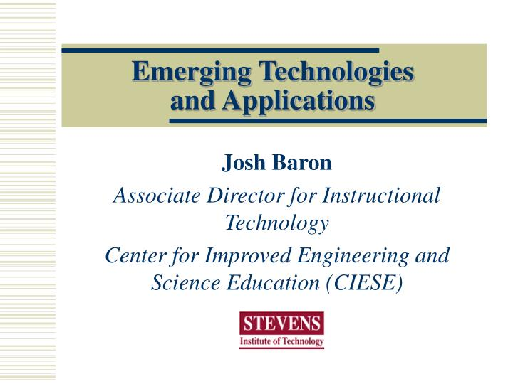 emerging technologies and applications n.