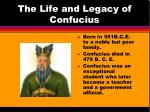 The Life and Legacy of Confucius