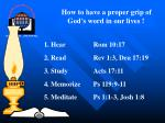 How to have a proper grip of God's word in our lives !