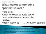 "What makes a number a ""perfect square?"