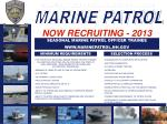 NOW RECRUITING - 2013
