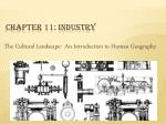 Chapter 11: Industry