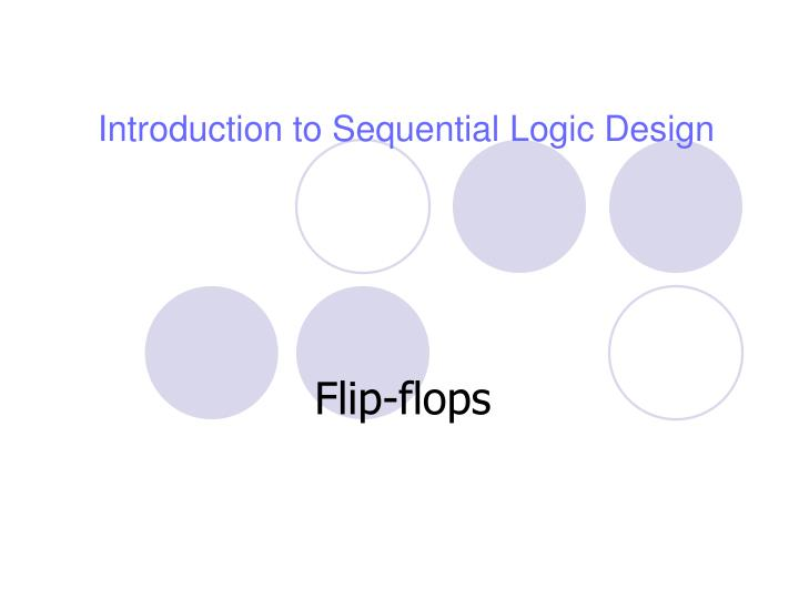 introduction to sequential logic design n.