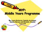 MYP: Middle Years Programme