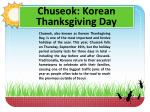 Chuseok : Korean Thanksgiving Day