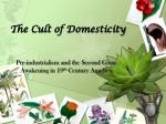 The Cult of Domesticity